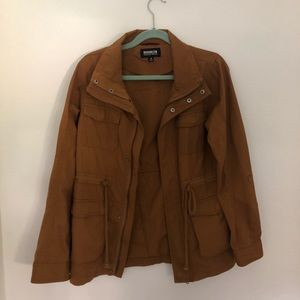Dark Camel Zipper Jacket